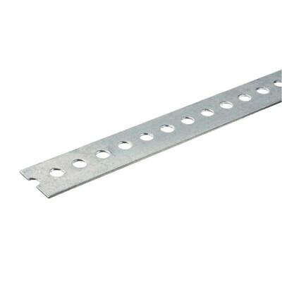 Everbilt 1-3/8 in. x 36 in. Zinc Steel Punched Flat Bar Thick Heavy Duty Metal