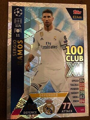 Topps - Match Attax Champions League 18/19 - Sergio Ramos - 100 Club # 433 Card