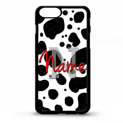 Cow spot dot animal pattern custom initials personalised name phone case cover