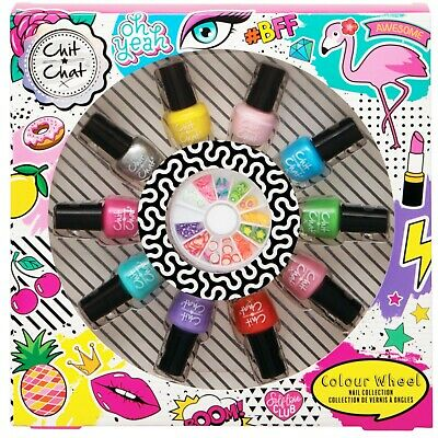 Chit Chat Colour Wheel Nail Collection Party Girls Varnish Polish Xmas Gift Set