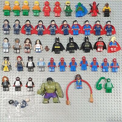 Genuine Lego Superheroes DC / Marvel Minifigures, Xmas stocking filler, VGC
