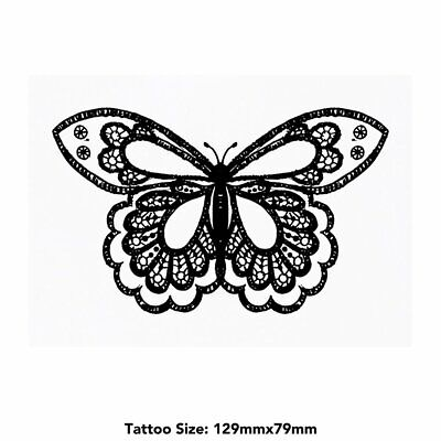 Large 'Stylised Butterfly' Temporary Tattoo (TO00017525)