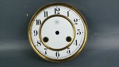 Junghans Old Original Signed Enamel Dial For Wall Clock Monolith
