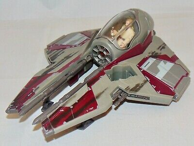 Hasbro Star Wars Obi-Wan's Jedi Starfighter Vehicle Used