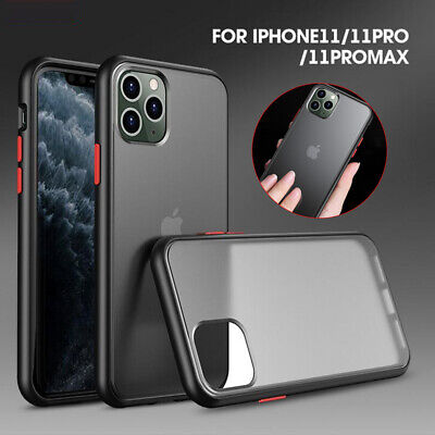 For iPhone 11 Pro Max Ultra-Thin Hybrid Shockproof TPU Bumper Slim Case Cover