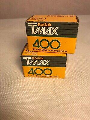 2 Vintage Kodak 35mm Tmax 400 Film 24 Exposures TMY 135-24 Professional 01/2000