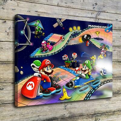 """12""""x16""""Super Mario HD Canvas Prints Painting Home Decor Picture Wall Art Poster"""