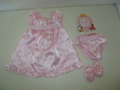 Zapf Creation Baby Born Sweet Dreams Outfit Set Pink Nightdress with Slippers