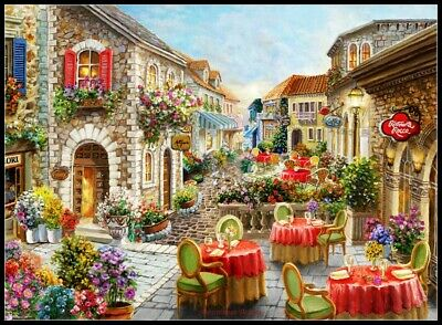 Fiori Caffes - DIY Chart Counted Cross Stitch Patterns Needlework embroidery