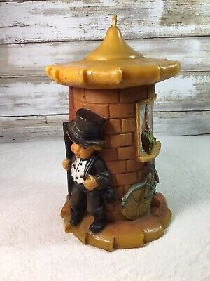 Vintage German Gunter Kerzen Hand carved Candle Handbemalt Bicycle Chimney 7""