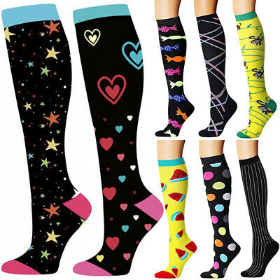 Sports Calf Support Compression Socks Stockings Medical Knee High Sock Running