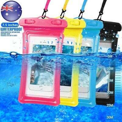 7.5'' Waterproof Underwater Case Cover Bag Dry Pouch Samsung S10 S9 S8 S7 S6
