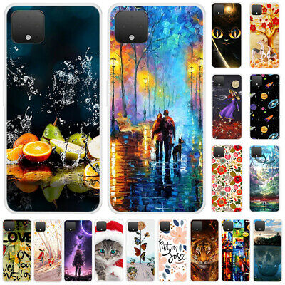 For Google Pixel 4 XL Shockproof Slim Soft TPU Silicone Painted Phone Case Cover