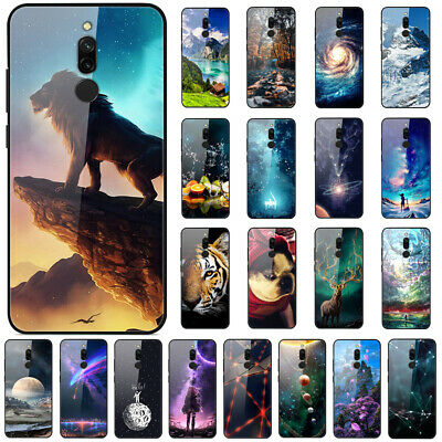 For Xiaomi Redmi 8 8A 7A Note 8 7 Pro Gradient Painted Tempered Glass Case Cover