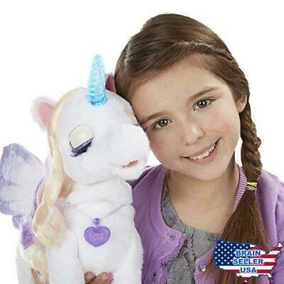 furReal StarLily, My Magical Unicorn Interactive Plush Pet Toy, Light-up Horn, A