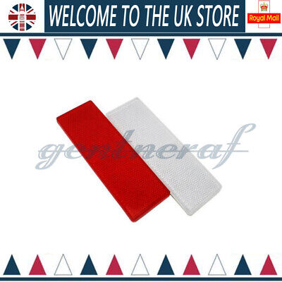 2PC Car Rectangular Side Marker Reflector For Trailer Caravan Truck White+Red UK