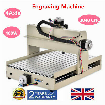 4Axis Router 3040 CNC Engraving Machine Wood PVC CUT DIY Milling Engraver 400W