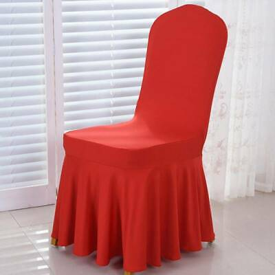 Universal Stretch Seat Chair Cover Protect For Wedding Ceremony Banquet Decor WL