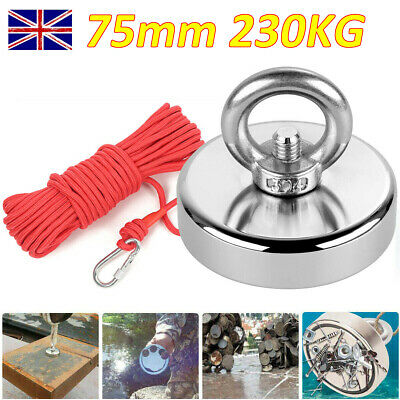 75mm 230kg Pull Neodymium Recovery Fishing Magnet Salvage Magnet with 10M Rope