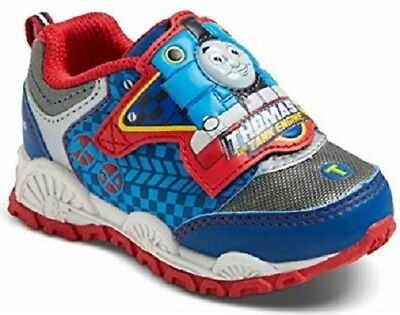 Thomas The Tank Engine Train Little Kids Light up Sneakers Toddler size 5 NEW