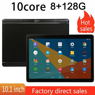 "10.1"" para la tableta de Android Tablet PC 8GB + 128GB Ten-Core WIFI GPS 2 SIM"