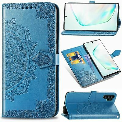 For Samsung Note 10+ 5G S9 S8 Magnet Flip Leather Wallet Card Stand Case Cover