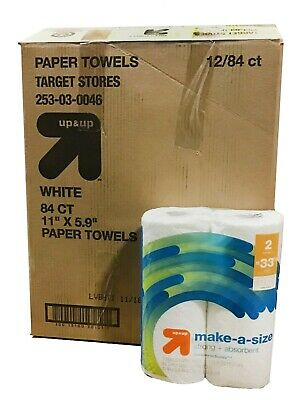 Make-A-Size Papel Toallas hasta & hasta - 24 Rollos - 84ct 2-Ply por Rollo