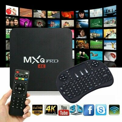 MXQ PRO UHD 4K S905X Android 7.1 Quad Core WiFi 2GB 16GB Smart TV Box + Keyboard