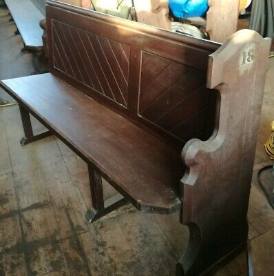 Original 19th Century Church Pew/Bench 6 foot long