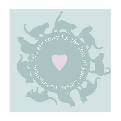 Sympathy Cards Circle of Cats (25 Pack)
