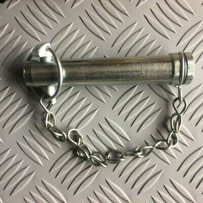 "Tractor Top Link Pin Cat 2 90mm 25.4mm 3.1//2/"" Useable Length with linch pin"