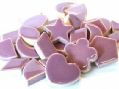Purple Ceramic Charms - Mosaic Tile Supplies Art Craft