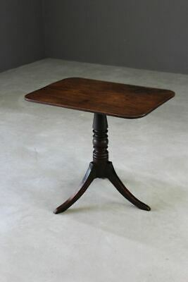 Antique Mahogany Tilt Top Side Occasional Supper Table