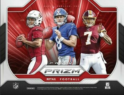 2019 Panini Prizm Football Retail Factory Sealed Mega Box (1 Auto per Box)