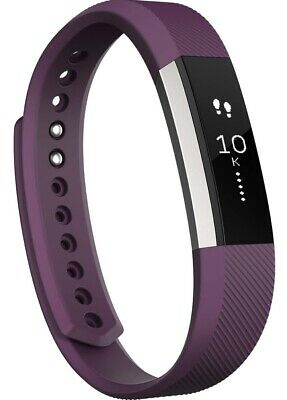 New Fitbit Alta Fitness Wristband Activity Tracker Plum Large Band