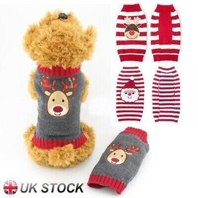 Christmas Cute Knitted Jumper Apparel Small Large Dog Warm Sweater Pet Clothes