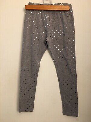 The Childrens Place Girls Sparkly Gray Leggings Size L 11/12
