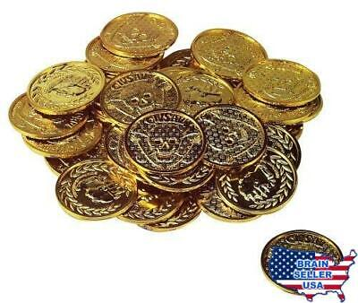 Pirate Gold Treasure Coins - 72 pcs, New, Free Ship