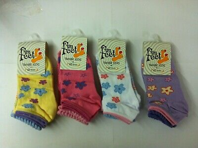 12 Pairs Childrens Girls Trainer Socks Ankle Socks Fun Feet 12-3