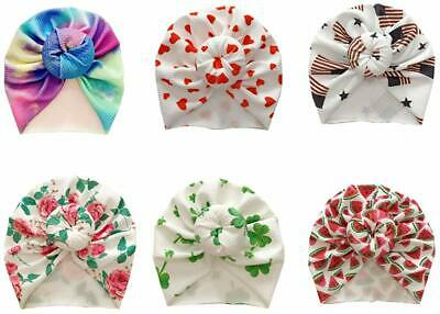 Newborn Baby Hospital Hat Soft Cotton Toddler Kids Girl Head Wrap With Big Bow C