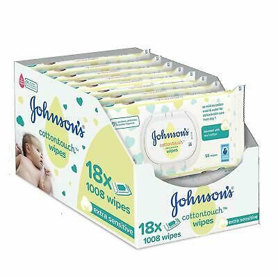 JOHNSON'S Cottontouch Extra Sensitive Wipes 1008 ct (56x18)