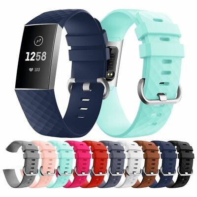 USA For Fitbit Charge 3 Replacement Silicone Watch Band Wrist Strap Bracelet mu