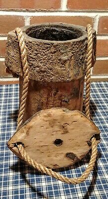 Beautiful Rare Antique Civil War Conestoga Wagon Tar Bucket