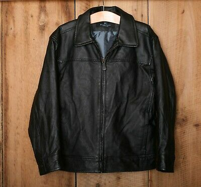 KENNETH COLE Reaction Lightly Insulated Black Leather Jacket Kids Sz. 7