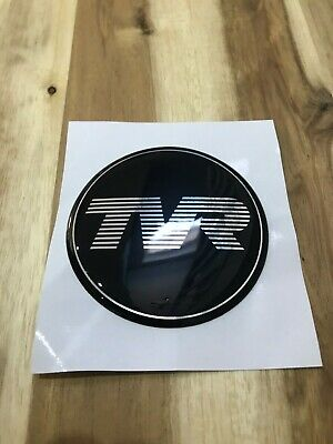 TVR ENGLAND GREEN TVR ENGLAND  Domed Hub Cap Stickers Wheel Stickers