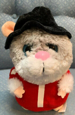 """Hamster Dancing & Singing """"The Choice Is Yours"""" Grey/White Red Shirt Super Cute!"""