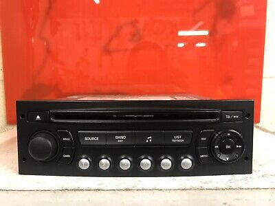 Peugeot Citroen Car Radio Stereo Cd Player Blaupunkt Rd4 N1-02 Fully Decoded