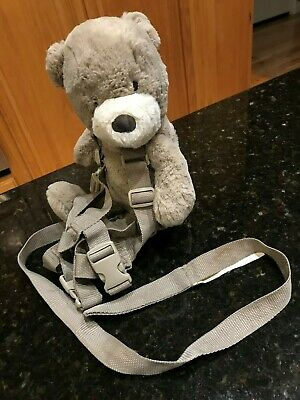 Eddie Bauer gray Teddy Bear plush Backpack Child Leash Toddler Safety Harness