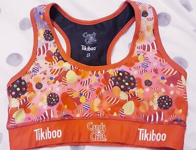 Tikiboo Candy Crush Sports Bra, size S. Leggings seperate. Excellent condition!
