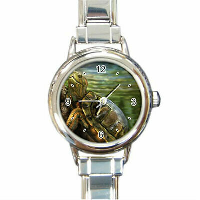 Greenish Yellowish Turtle Olive COlored shell watch